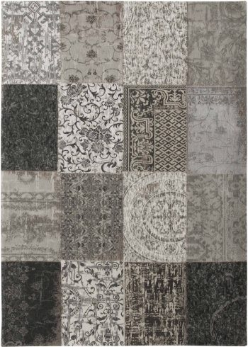 alfombras Louis De Poortere AV 8101 Vintage Black White