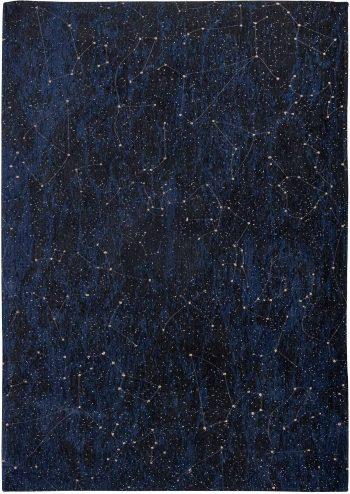 Louis De Poortere alfombra Fischbacher 9060 Celestial Midnight Blue